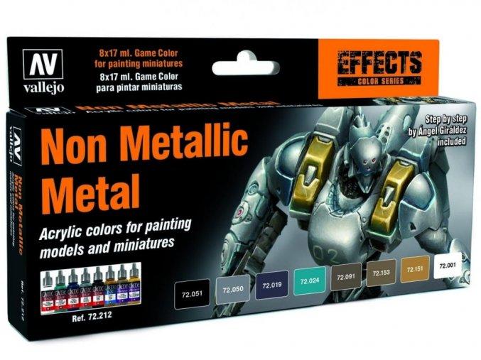 Vallejo Game Color Effects Set 72212 Non Metallic Metal (8)