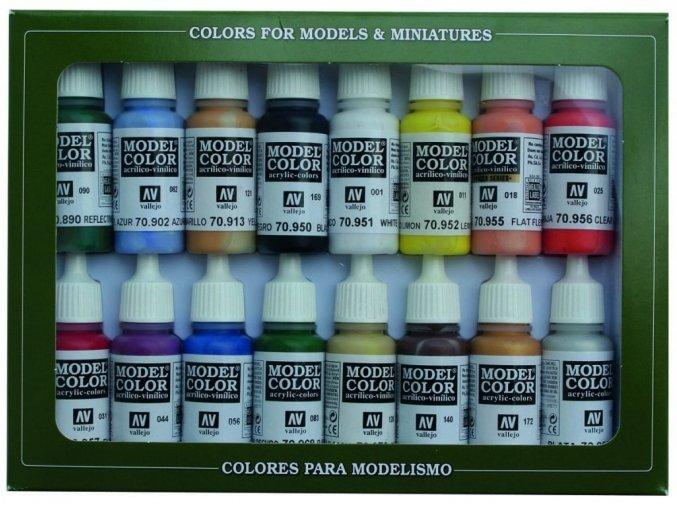 Vallejo Model Color 16 color Set 70140 Basic Colors Usa (16)