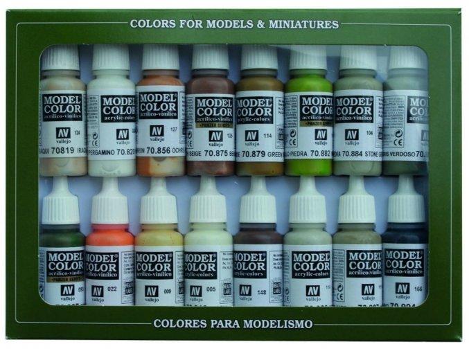 Vallejo Model Color 16 color Set 70141 Earth Tones (16)