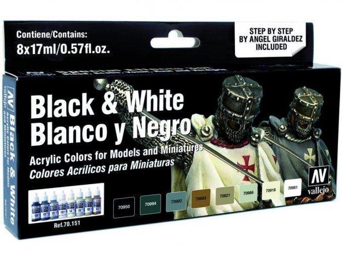 Vallejo Model Color Effects Set 70151 Black & White (8) by Angel Giraldez