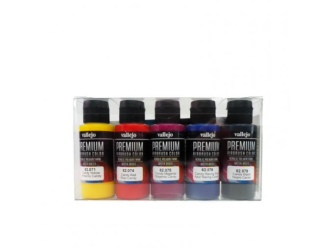 Vallejo PREMIUM Color - Candy Color Set (5x60ml)