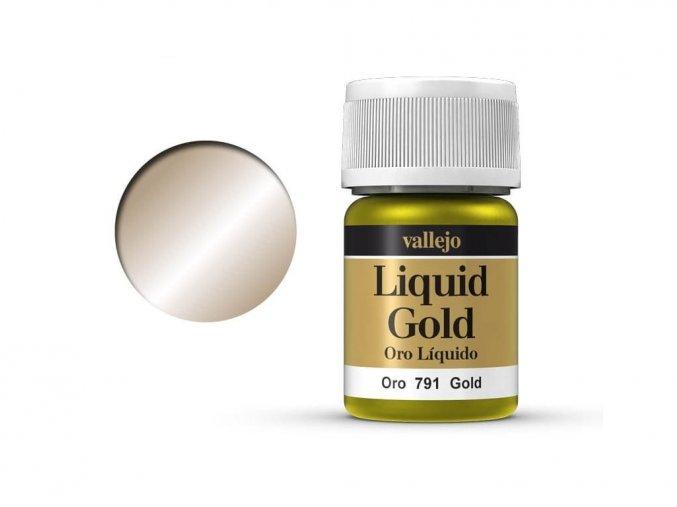Barva Vallejo Liquid  70791 Gold (Alcohol Based) (35ml)