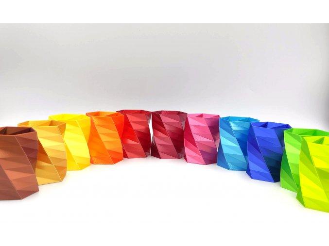 filamenty fibersilk metalický vzhled vínový