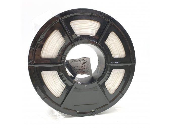 PLA Silk filament hedvábný bílý PERLOVÝ 1,75mm 1kg Fiber3D