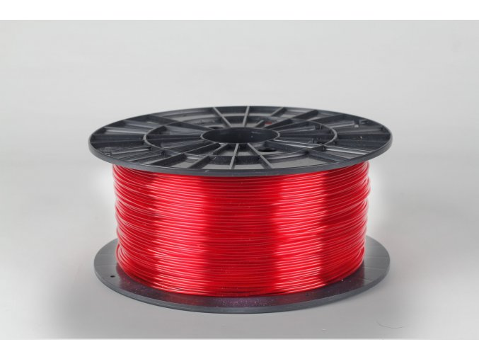 PET-G tisková struna červená transparentní 1,75 mm 1 kg Filament PM