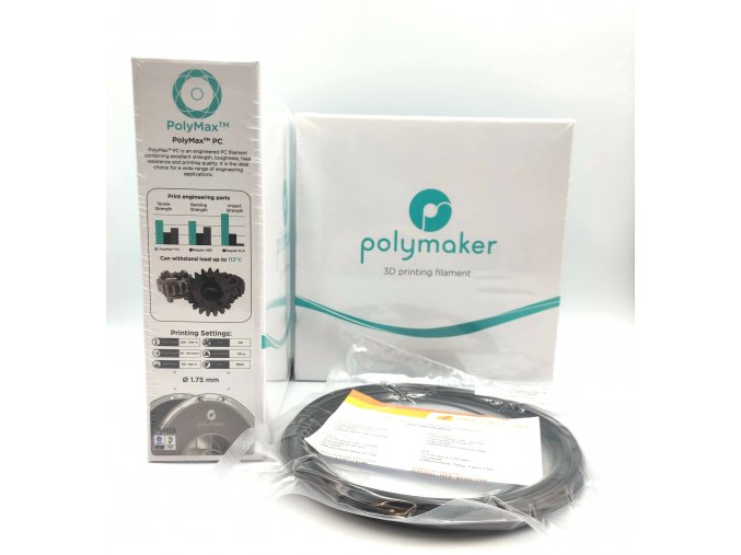 VZOREK 20 METRŮ - PC PolyMax filament černý 1,75mm Polymaker