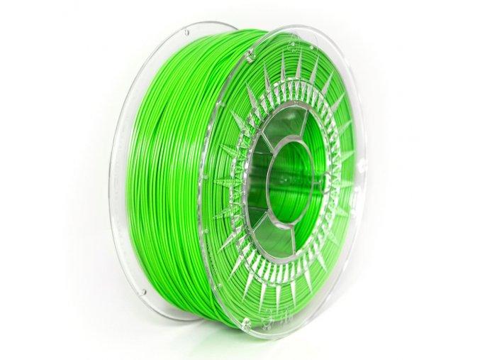 ABS+ filament 1,75 mm jasný zelený Devil Design 1 kg