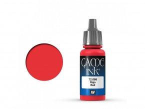 game color vallejo red ink 72086