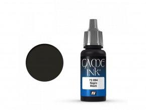 game color vallejo black ink 72094