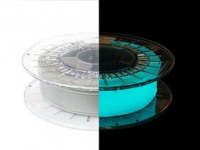 eng pl Filament PLA Glow in the Dark 1 75mm BLUE 0 5kg 1330 4