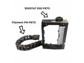 PET-G tisková struna černá 1,75 mm 1 kg Filament PM