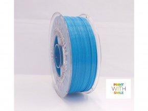PLA 17,75mm PrintWithSmile Tyrkysově modrý filament - tuzemský vyrobce tiskových strun - tiskněte kvalitně a snadno!