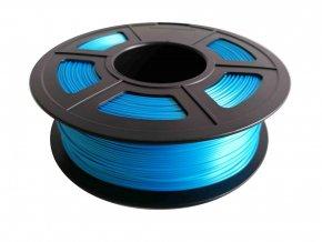 PLA Silk filament hedvábný modrý 1,75mm 1kg Fiber3D