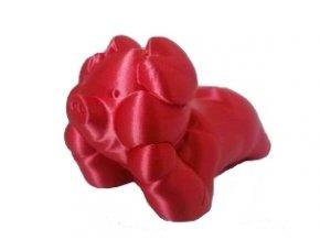 PLA silk Fiber3D červená tisková struna 1,75mm 1kg