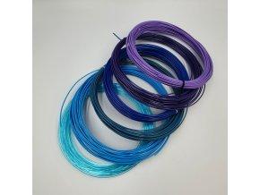vzorník modrá fialová