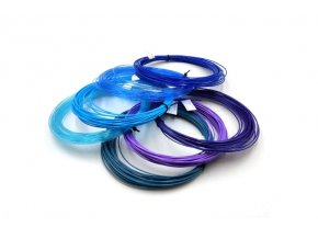 modré fialové vzorník 6 barev Devil Petg