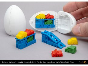 PLA Extrafill Sky Blue Green Grass Traffic White Red Yellow Agepbiz Truck Surprise Egg 2[1]