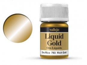 Barva Vallejo Liquid  70793 Rich Gold (Alcohol Based) (35ml)