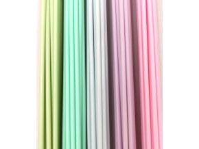 Struny do 3D pera PLA 1,75mm bez krabičky 5 pastelových barev (25bm) eko 75 ks rovných strun