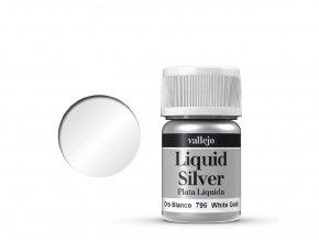 liquid white silver vallejo 70796
