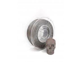 PLA filament z recyklátu 1,75 mm satin hnědá EKO-MB 1 kg