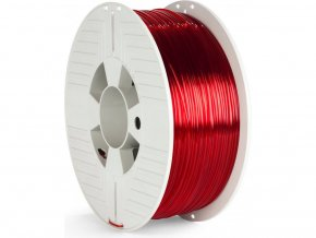 PET-G filament 2,85 mm červený transparent Verbatim 1 kg