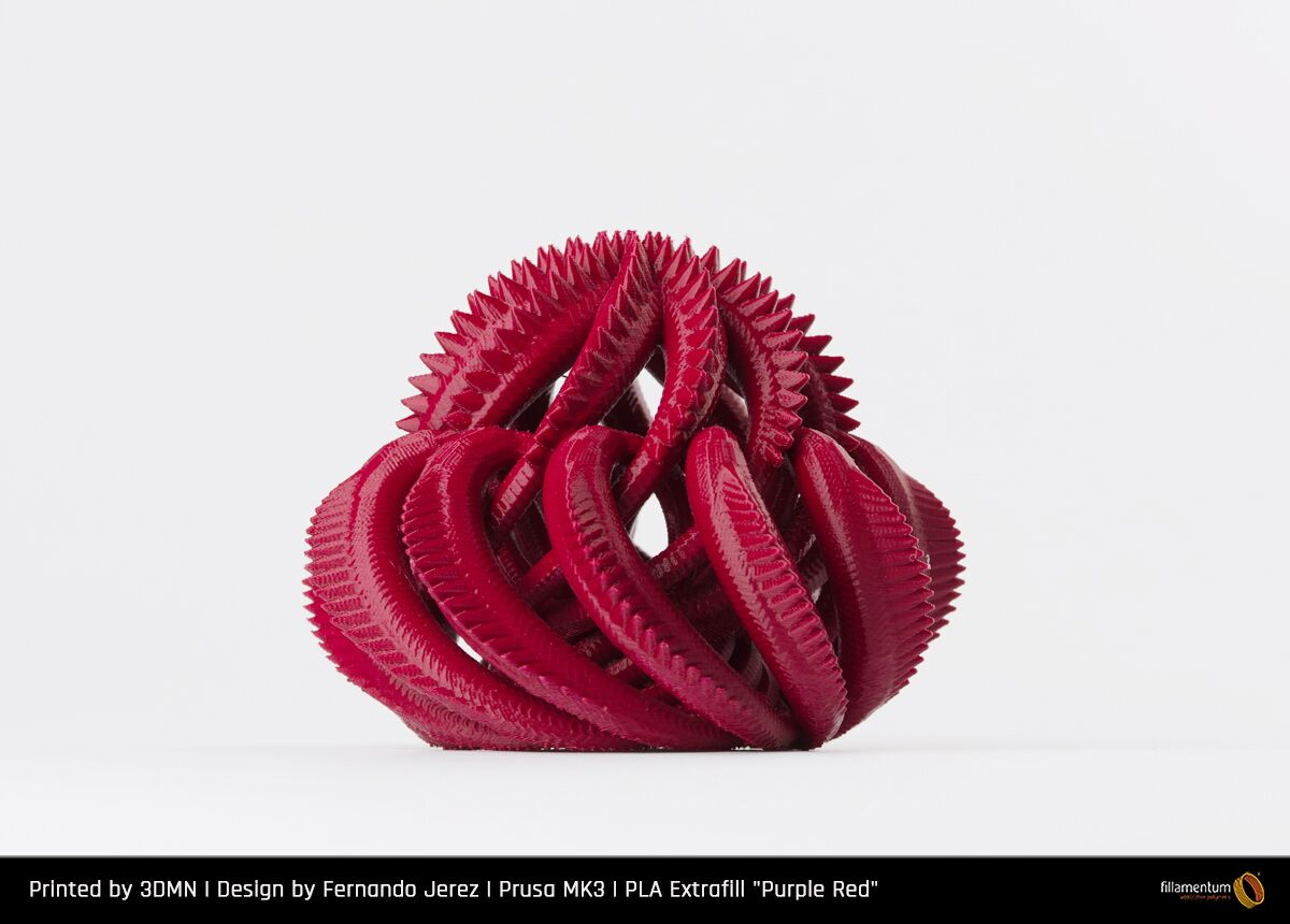 PLA filament Fillamentum Extrafill červený purple 1,75 mm 750 g