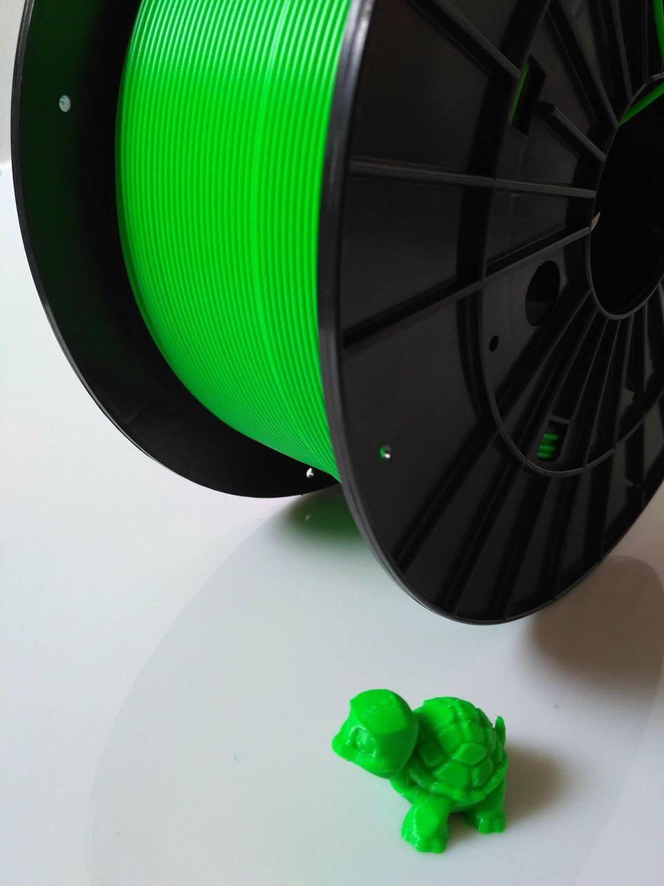 PLA filament Filament-PM fluorescenční zelená 1,75 mm 1 kg