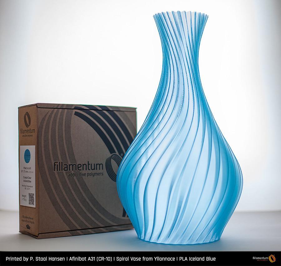 PLA filament Fillamentum Crystal Clear Iceland Blue 1,75 mm 750 g