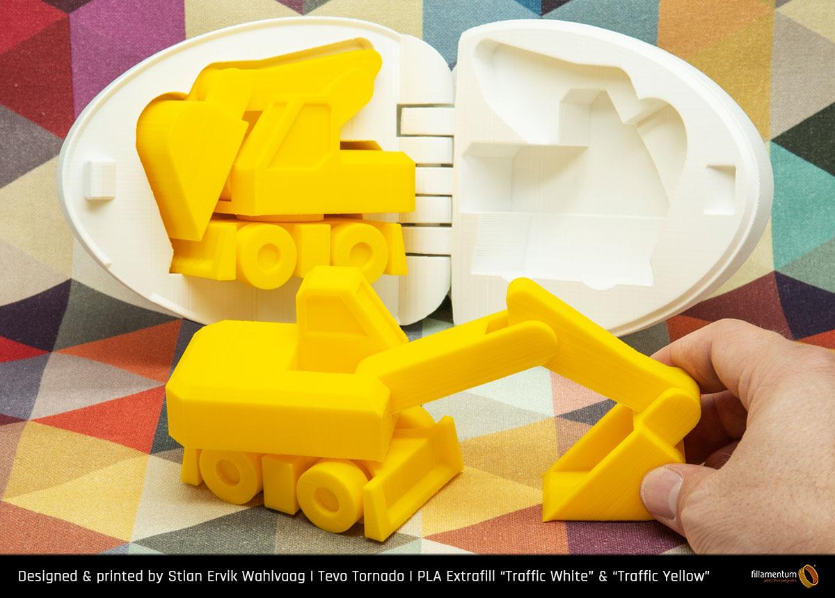 PLA filament Fillamentum Extrafill Traffic Yellow 1,75 mm 750 g