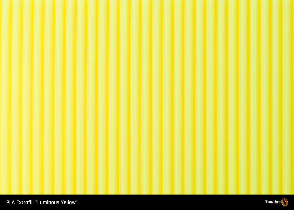 PLA filament Fillamentum Extrafill Luminous Yellow 1,75 mm 750 g