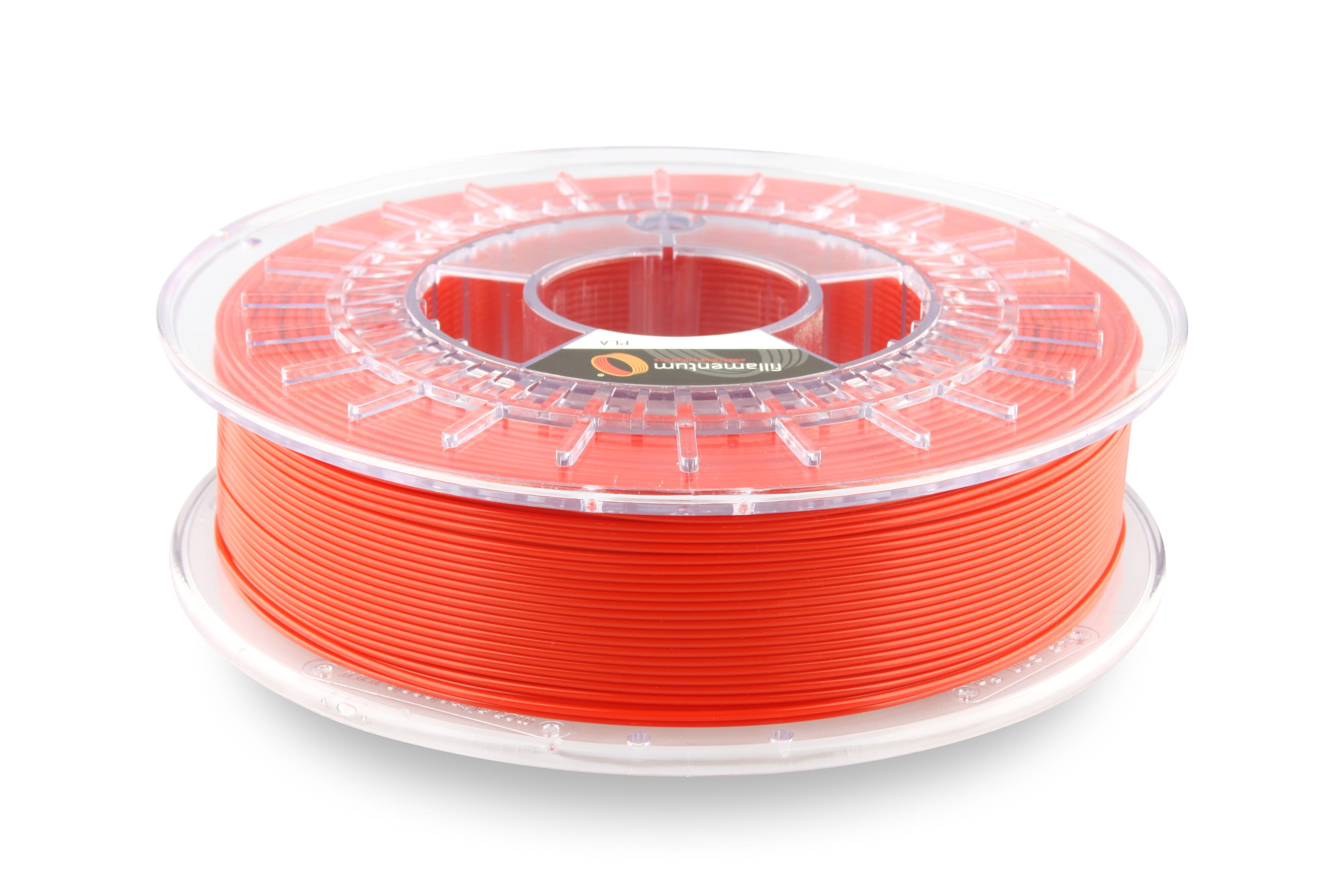 PLA filament Fillamentum Extrafill červená 1,75 mm 750 g