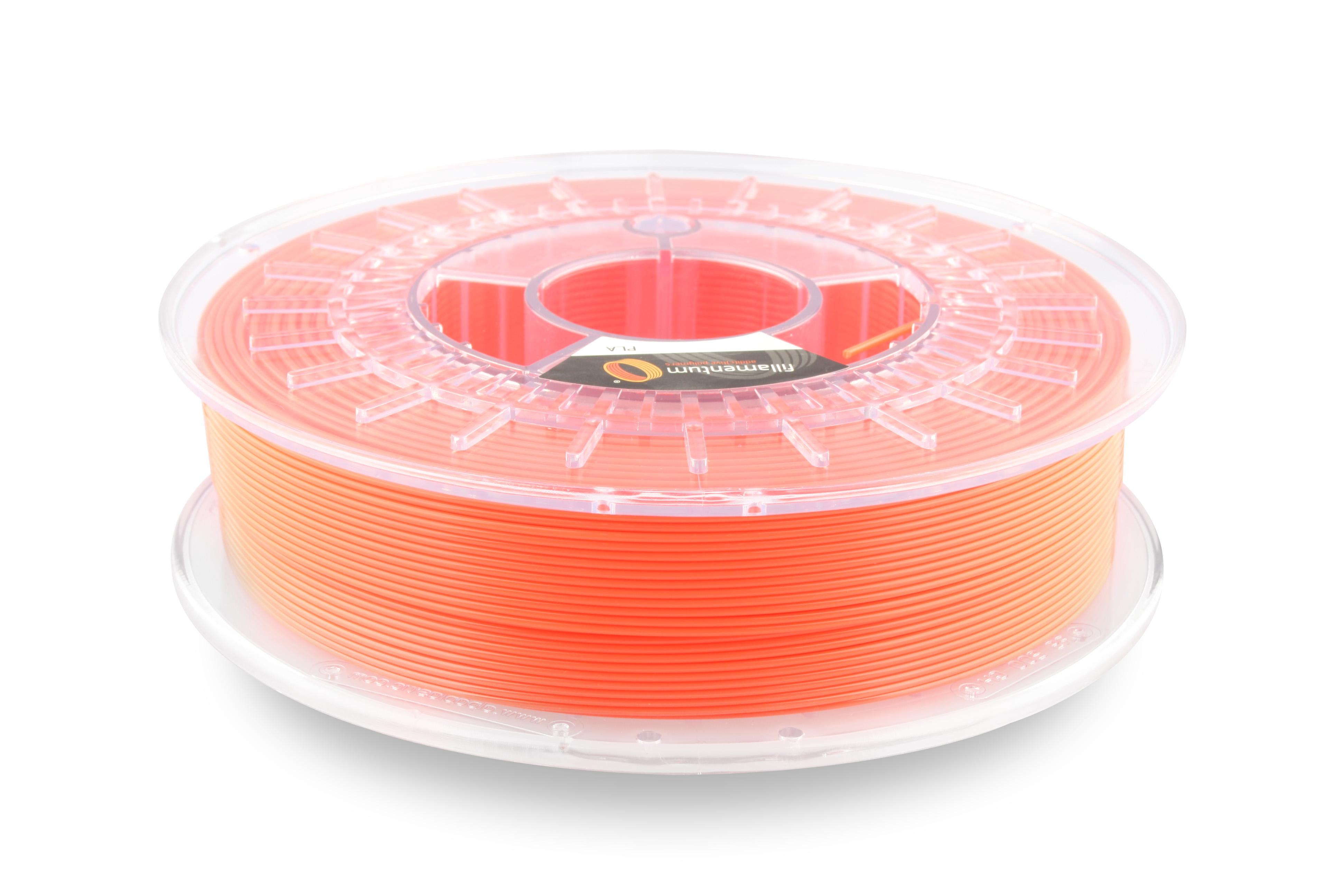 PLA filament Fillamentum Extrafill svítívá oranžová 1,75 mm 750 g