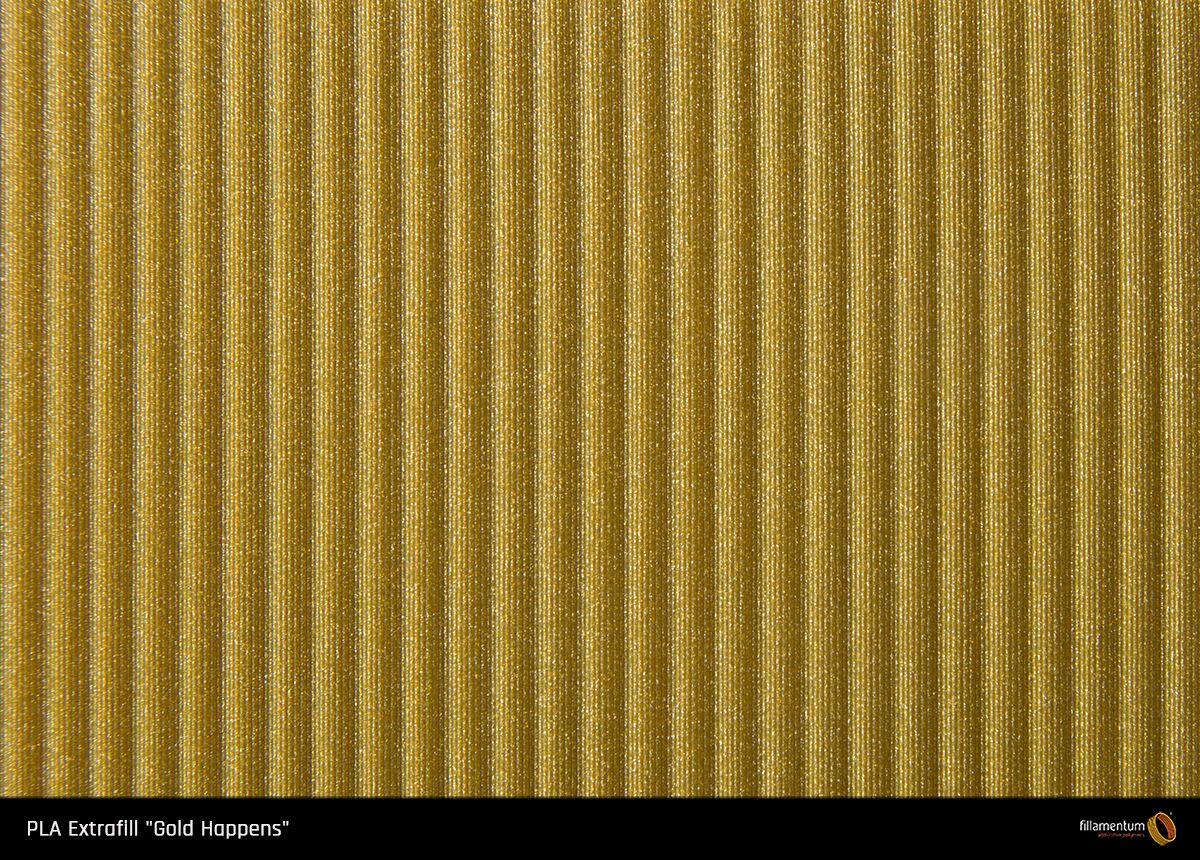 PLA filament Fillamentum Extrafill Gold Happens 1,75 mm 750 g