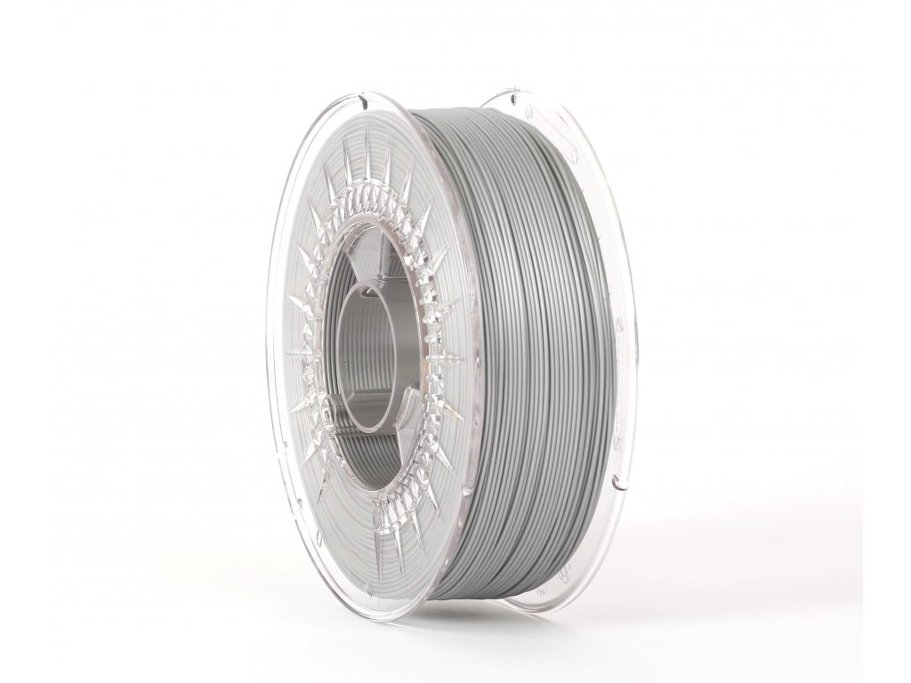 PLA filament silver 1,75 mm Print With Smile 0,5kg