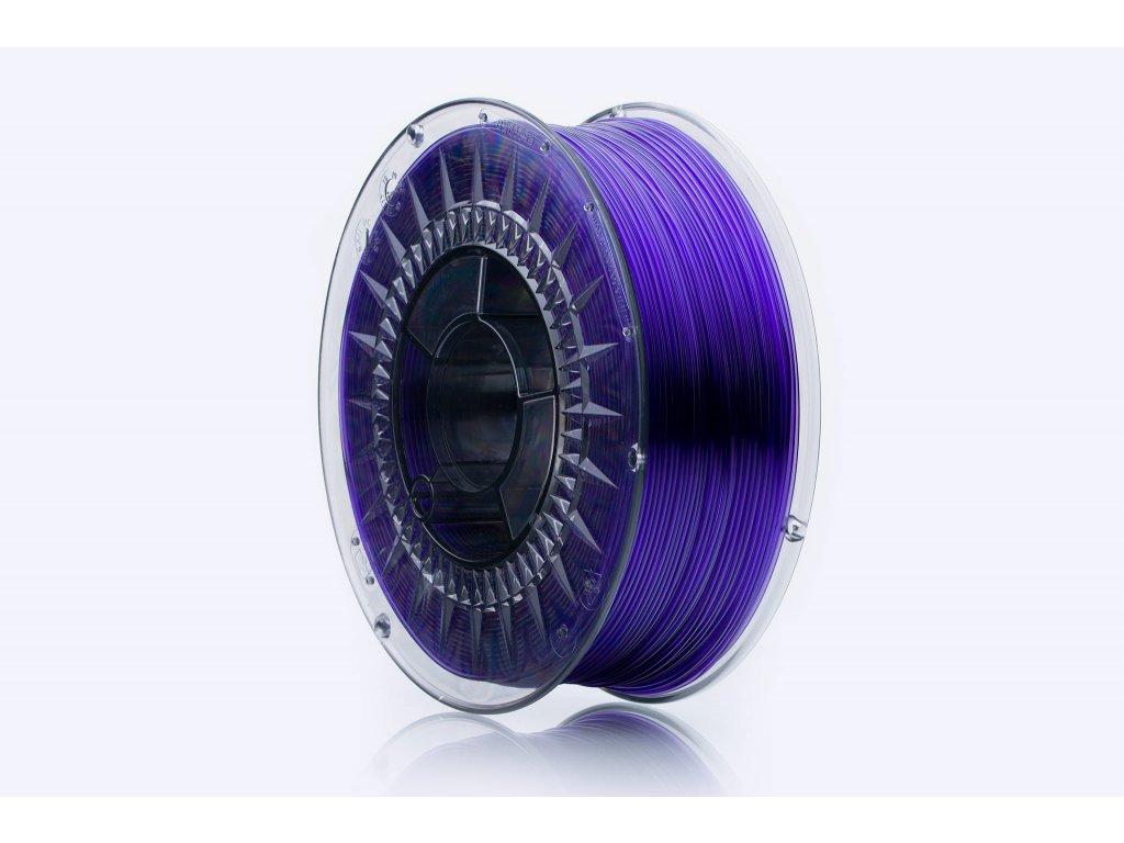 PET-G filament Violet Glass TR 1,75 mm Print With Smile 1kg