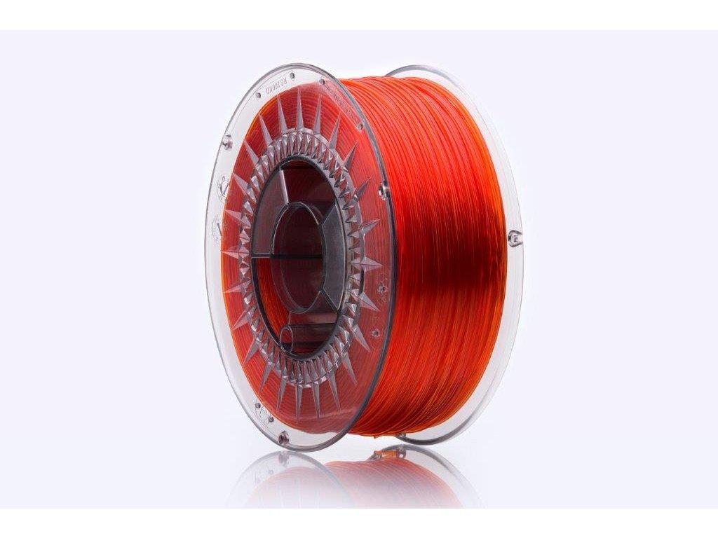 PET-G filament Orange glass 1,75 mm Print With Smile 1kg