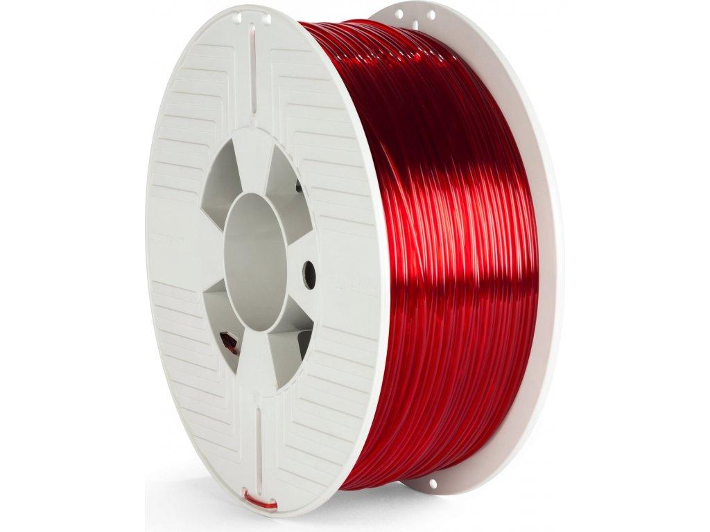 PET-G filament 1,75 mm červený transparent Verbatim 1 kg