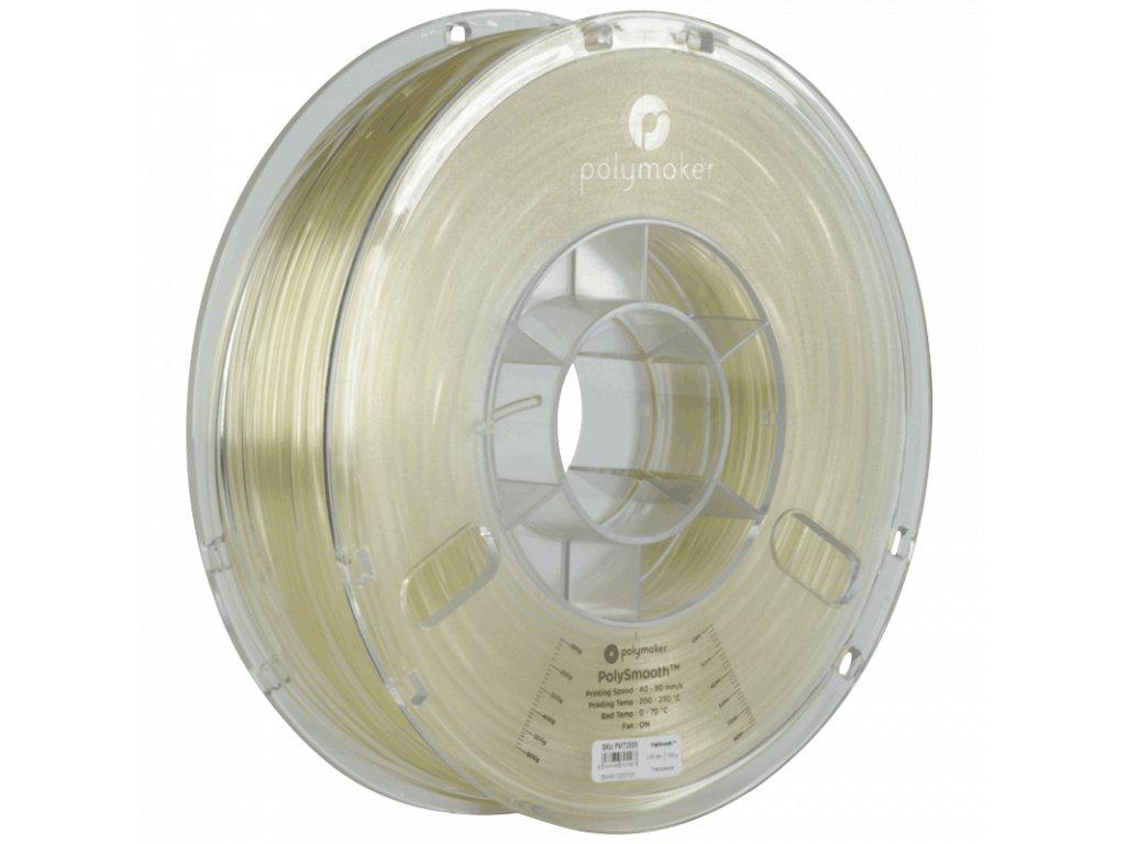 PolySmooth tlačová struna pre vyhladenie povrchu modelu alkoholom Layer free PVB 1,75mm Transparent 0,75 kg