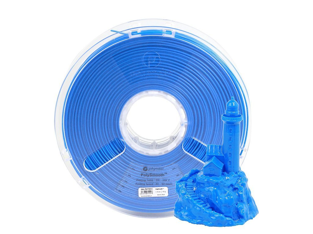 5165 polysmooth tiskova struna elektricky modra 1 75mm polymaker 750g