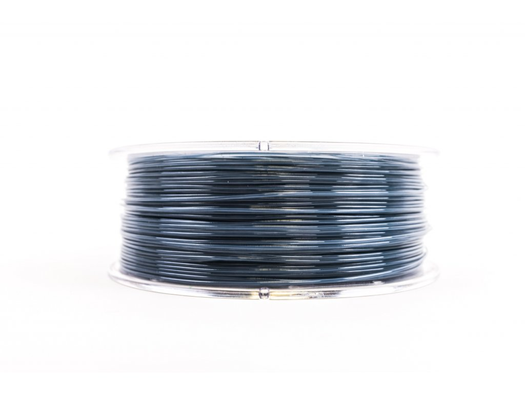 PET filament z recyklátu 1,75 mm modrosivý transparent EKO-MB 1 kg