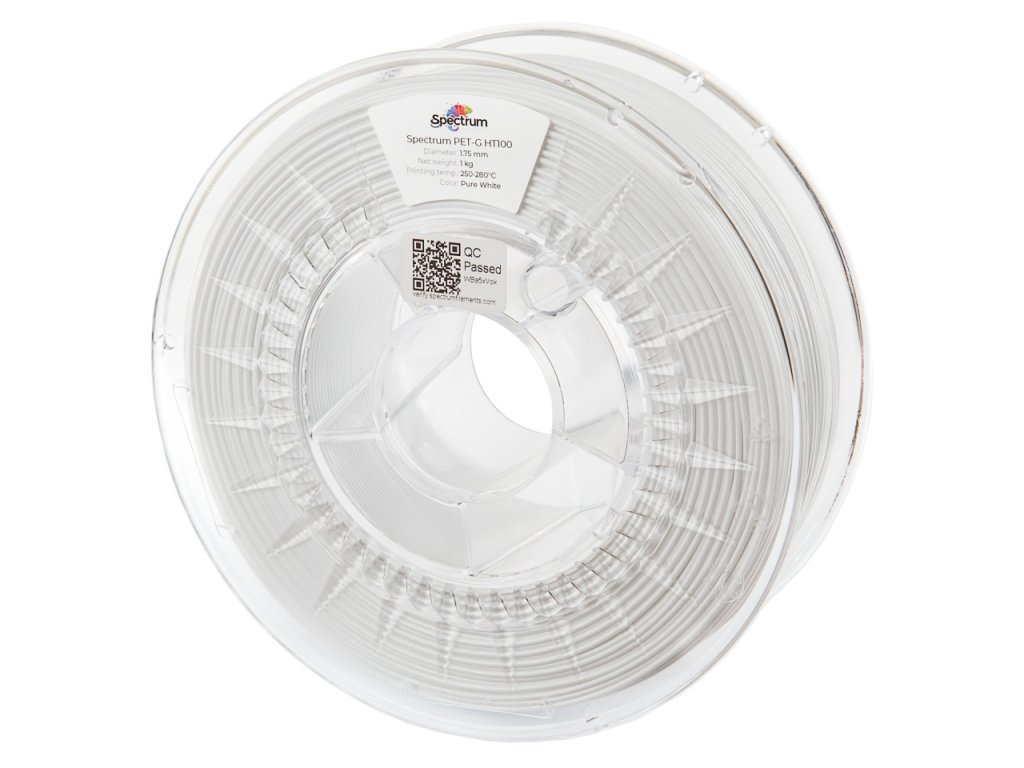 PETG HT100 filament Pure White 1,75 mm Spectrum 1 kg