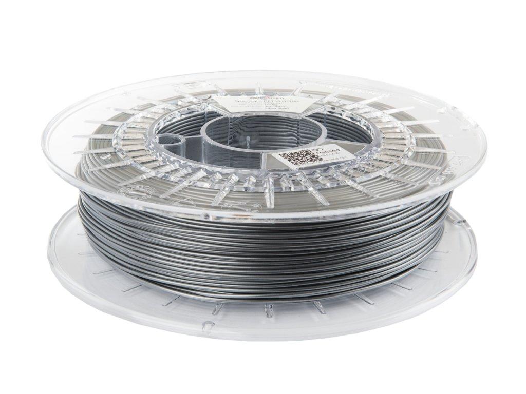 PETG HT100 filament Silver Steel 1,75 mm Spectrum 0,5 kg