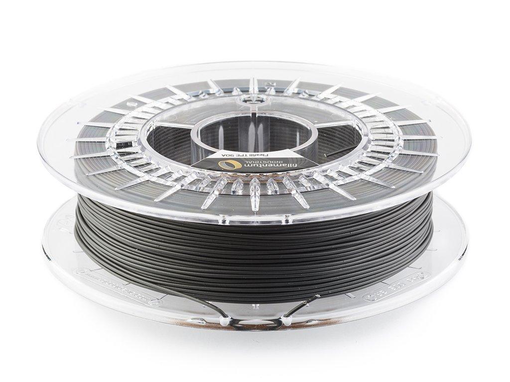 TPE značky Fillamentum 96A, 1,75mm, 0,5 kg, dopravná černá
