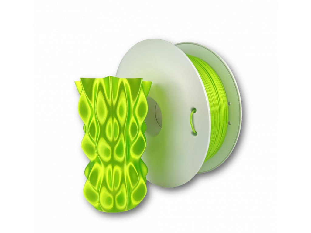 PLA FIBERSILK filament svetlo zelený metalický 1,75mm Fiberlogy 850g