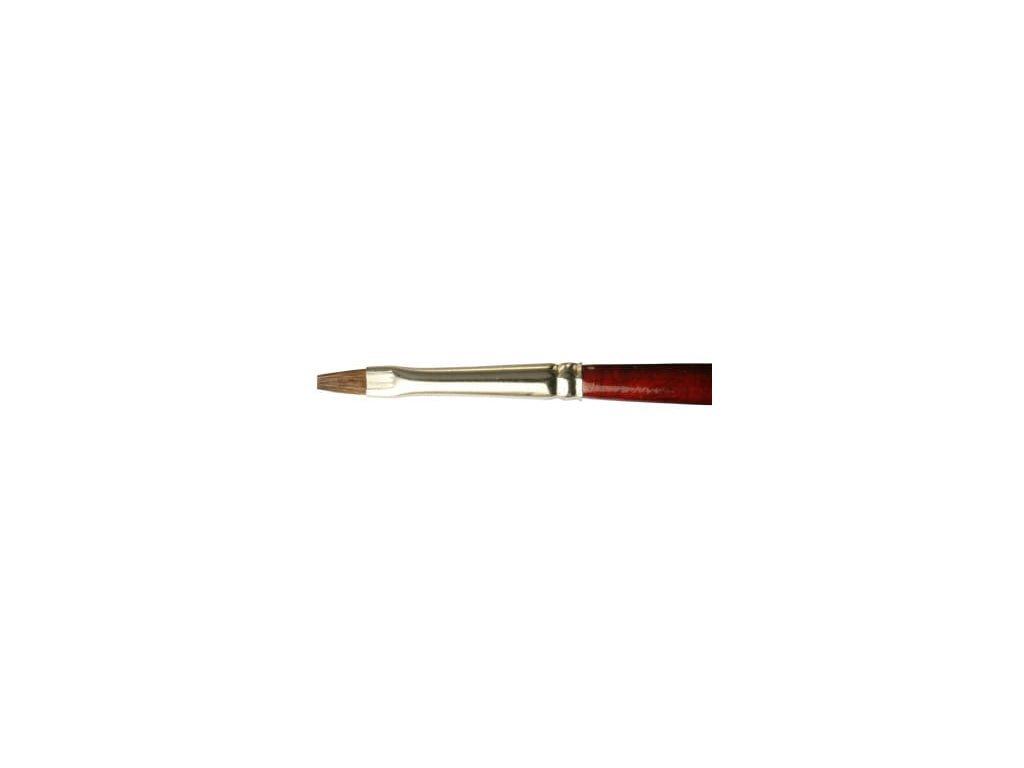 Plochý štetec LifeColor Pure red sable 2