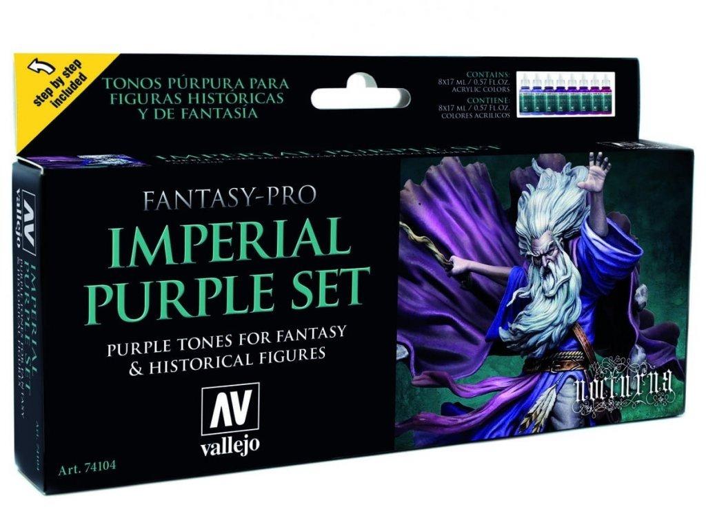 Vallejo Pre Nocturna Set 74104 Imperial Purple Set (8)
