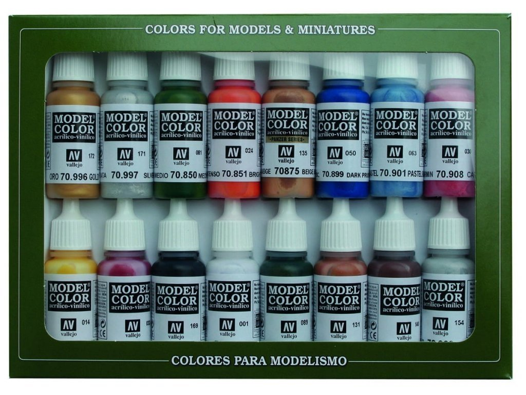 Vallejo Model Color 16 color Set 70101 Folkstone Basics (16)