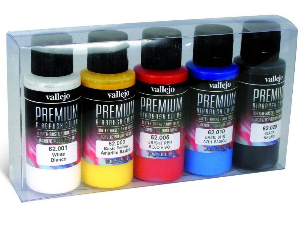 Vallejo PREMIUM Color - Opaque Color Set (5x60ml)