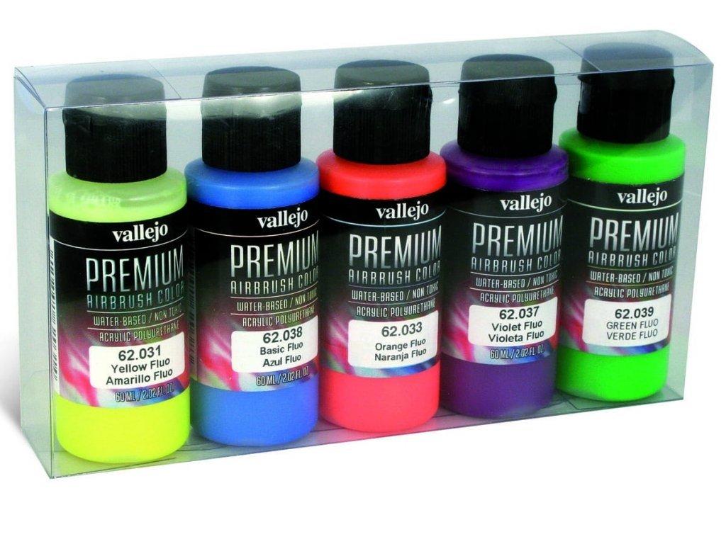 Vallejo PREMIUM Color - Fluorescent Color Set (5x60ml)